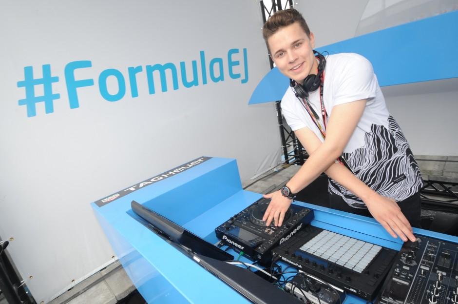 FIA Formula E ePrix Berlin 2015 - TAG Heuer - DJ Felix Jaehn (1)