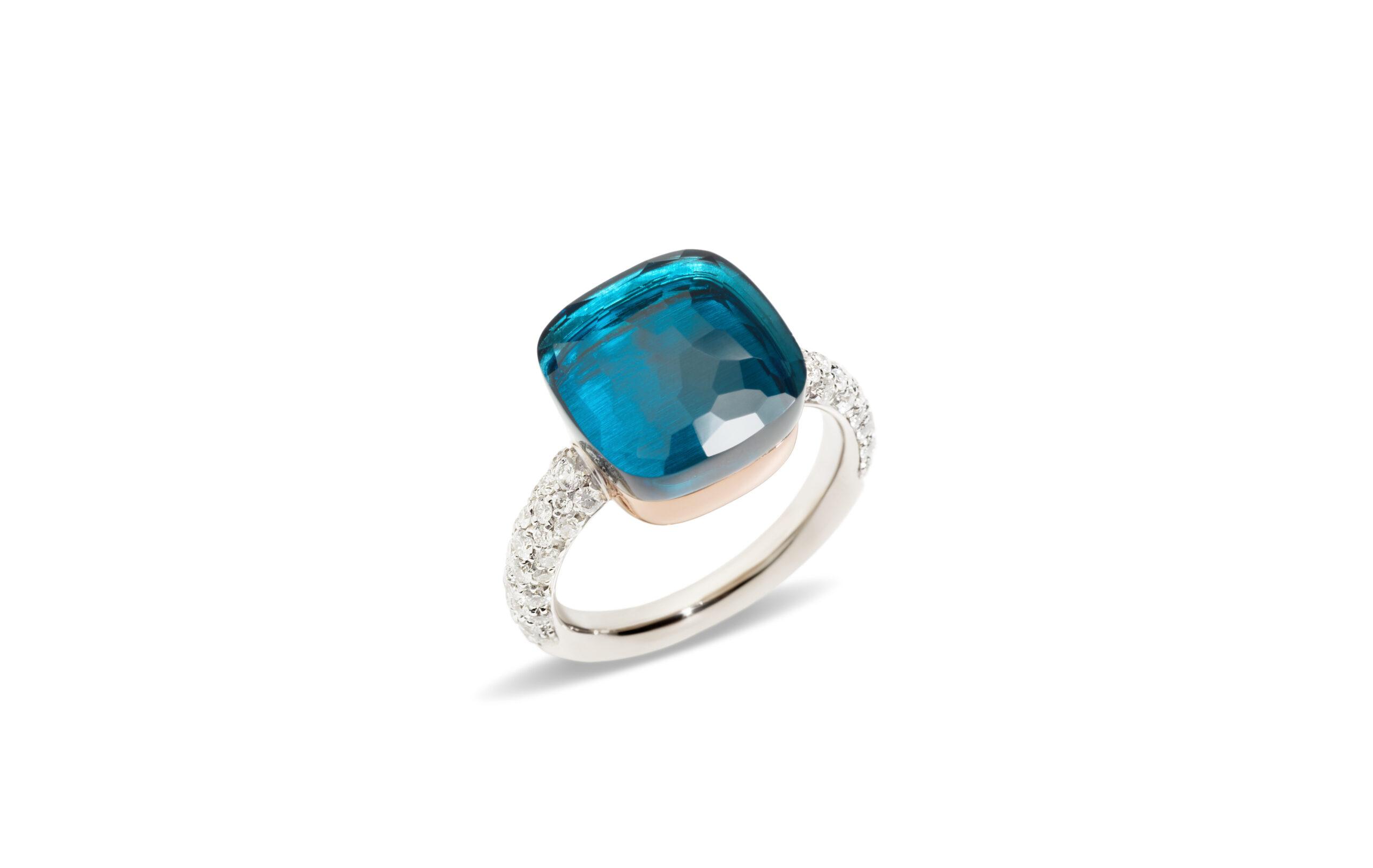 Nudo Rings by Pomellato_LondonBlueTopaz_Diamonds